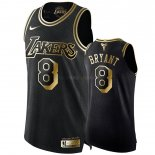 Maillot Los Angeles Lakers Nike NO.8 Kobe Bryant Or Edition Pas Cher