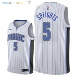 Maillot NBA Orlando Magic NO.5 Marreese Speights Blanc Association 2018 Pas Cher