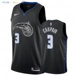 Maillot NBA Orlando Magic NO.3 Troy Caupain Nike Noir Ville 2018-2019 Pas Cher