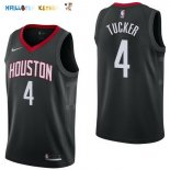 Maillot NBA Houston Rockets NO.4 P.J. Tucker Noir Statement 2017-2018 Pas Cher