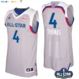 Maillot NBA 2017 All Star NO.4 Isaiah Thomas Gray Pas Cher