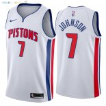 Maillot NBA Detroit Pistons NO.7 Stanley Johnson Blanc Association 2018 Pas Cher