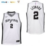 Maillot NBA Enfant San Antonio Spurs NO.2 Kawhi Leonard Blanc Association Pas Cher