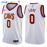 Maillot NBA Cleveland Cavaliers NO.0 Kevin Love Blanc Association 2017-2018 Pas Cher