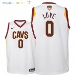Maillot NBA Enfant Cleveland Cavaliers Finales Champions 2018 NO.0 Kevin Love Blanc Association Patch Pas Cher