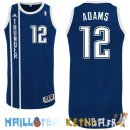 Maillot NBA Oklahoma City Thunder NO.12 Steven Adams Retro Bleu Pas Cher