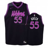 Maillot Enfant Minnesota Timberwolves NO.55 Mitch Creek Pourpre Ville 2018-19 Pas Cher