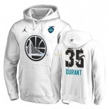 Hoodies NBA 2019 All Star Golden State Warriors NO.35 Kevin Durant Blanc Pas Cher