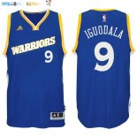 Maillot NBA Golden State Warriors NO.9 Andre Iguodala 2016-2017 Bleu Pas Cher
