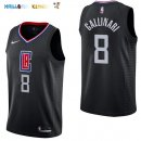 Maillot NBA Los Angeles Clippers NO.8 Danilo Gallinari Noir Statement 2017-2018 Pas Cher