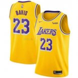 Maillot Los Angeles Lakers Nike NO.23 Anthony Davis Jaune 2019-20 Pas Cher