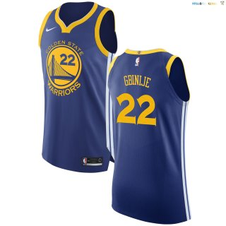 Maillot NBA Golden State Warriors Nike Icon NO.22 Michael Gbinije Bleu Pas Cher