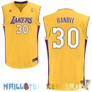 Maillot NBA L.A.Lakers NO.30 Julius Randle Jaune Pas Cher
