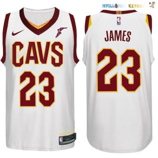 Maillot NBA Cleveland Cavaliers Nike NO.23 LeBron James Blanc Pas Cher