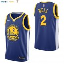 Maillot NBA Golden State Warriors NO.2 Jordan Bell Bleu Icon 2017-2018 Pas Cher