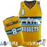 Maillot NBA Denver Nuggets NO.8 Danilo Gallinari Jaune Pas Cher