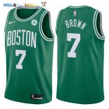 Maillot NBA Boston Celtics NO.7 Jaylen Brown Vert 2017-2018 Pas Cher