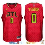 Maillot NBA Atlanta Hawks NO.0 Jeff Teague Rouge Pas Cher
