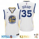 Maillot NBA Golden State Warriors NO.35 Kevin Durant Blanc Pas Cher