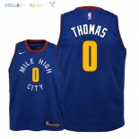 Maillot NBA Enfant Denver Nuggets NO.0 Isaiah Thomas Bleu Statement 2018-19 Pas Cher