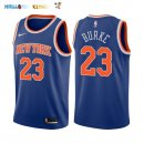 Maillot NBA New York Knicks NO.23 Trey Burke Bleu Icon 2017-2018 Pas Cher