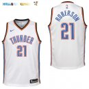 Maillot NBA Enfant Oklahoma City Thunder NO.21 Andre Roberson Blanc Association Pas Cher