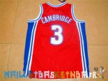 Maillot NBA Film Basket-Ball Bel Air Academy NO.3 Cambridge Rouge Pas Cher