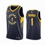 Maillot NBA Indiana Pacers Nike NO.1 T.J. Warren Gray Marine Icon 2019-20 Pas Cher