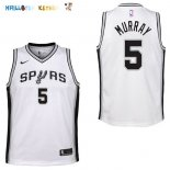 Maillot NBA Enfant San Antonio Spurs NO.5 Dejounte Murray Blanc Association Pas Cher