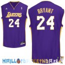 Maillot NBA L.A.Lakers NO.24 Kobe Bryant Purpura Pas Cher