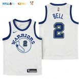 Maillot NBA Enfant Golden State Warriors NO.2 Jordan Bell Nike Retro Blanc Pas Cher