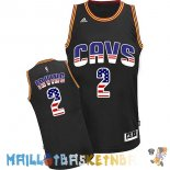 Maillot NBA USA Flag Special Edition NO.2 Irving Noir Pas Cher