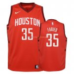 Maillot NBA Enfant Earned Edition Houston Rockets NO.35 Kenneth Faried Rouge 2018-19 Pas Cher