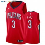 Maillot New Orleans Pelicans NO.3 Josh Hart Rouge Statement 2019-20