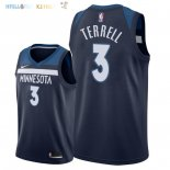 Maillot NBA Minnesota Timberwolves NO.3 Jared Terrell Marine Icon 2018 Pas Cher