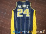 Maillot NBA Indiana Pacers NO.24 Paul George Bleu Bande Pas Cher
