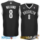 Maillot NBA Brooklyn Nets NO.8 Deron Michael Williams Noir Pas Cher