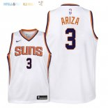Maillot NBA Enfant Phoenix Suns NO.3 Trevor Ariza Blanc Association 2018 Pas Cher