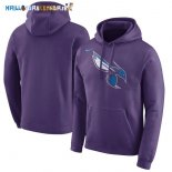 Hoodies NBA Charlotte Hornets Pourpre Pas Cher