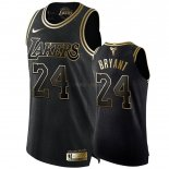 Maillot Los Angeles Lakers Nike NO.24 Kobe Bryant Or Edition Pas Cher