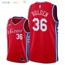Maillot NBA Philadelphia Sixers NO.36 Jonah Bolden Rouge Statement 2018 Pas Cher