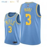 Maillot NBA Los Angeles Lakers NO.3 Josh Hart Retro Bleu 2018 Pas Cher