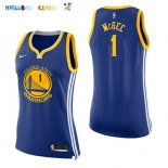 Maillot NBA Femme Golden State Warriors NO.1 JaVale McGee Bleu Icon Pas Cher