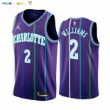 Maillot NBA Charlotte Hornets NO.2 Marvin Williams Pourpre Hardwood Classics 2019-20