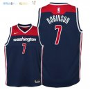 Maillot NBA Enfant Washington Wizards NO.7 Devin Robinson Marine Statement 2018 Pas Cher