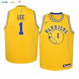 Maillot NBA Enfant Golden State Warriors NO.1 Damion Lee Or Hardwood Classics 2019-20