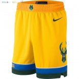 Pantalon NBA Milwaukee Bucks Nike Jaune Ville 2018-2019 Pas Cher