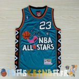 Maillot NBA 1996 All Star NO.23 Michael Jordan Bleu Pas Cher