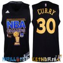 Maillot NBA Golden State Warriors 2015 Finales Champions NO.30 Curry Noir Pas Cher