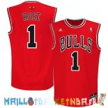 Maillot NBA Chicago Bulls NO.1 Derrick Rose Rouge Pas Cher